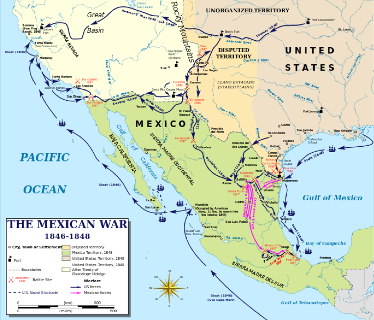 map-northern-mexico-mexico-manifest-destiny